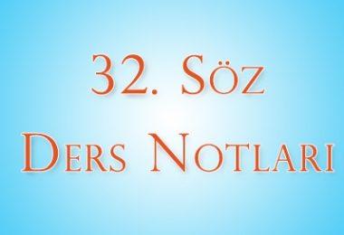 32.Söz - 1.Ders Notları | Ha-Mim