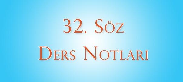 32.Söz – 3.Ders Notları | Ha-Mim